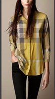 Cheap new arrival 2016 autumn&spring lady long sleeves blouses plaid women shirt size M--XXL