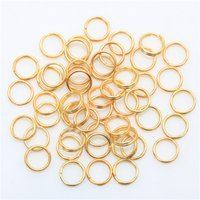 bead key rings - Factory Price Metal Fishing Split Rings Findings Key Rings mm for DIY Jewelry Making