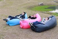 Wholesale 2016 New Sleeping Bags Lamzac laybag Fast Inflatable hangout Air Sofa sleep bag Camping Bed Sofa Lounger Only Need Ten Seconds kaisr