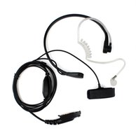 ambient radio - Throat MIC Covert Acoustic Tube Earpiece for Motorola Radios GP328 EX PRO RELM New Black High Ambient Environment Transparent Tube