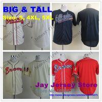 big chipper - Big Tall Atlanta Braves Jersey Size S XL XL Dale Murphy Freddie Freeman Chipper Jones Andrelton Simmons John Smoltz Teheran