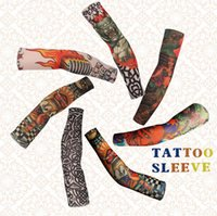 armed tribal - Tatton Sleeve Men Fake Tattoo Sleeve styles Elasticity Nylon Cloth Arm Art Tribal Design Oversleeve OOA485