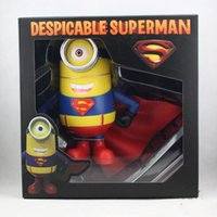 Wholesale Despicable Me anime figurine minions action figure Superman style cm cute PVC toy birthday gift