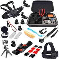 Wholesale Accessories Kit Chest Belt Strap Head Belt Camera Bag Monopod Suction Cup Mount Holder Floating Grip for Gopro Hero4