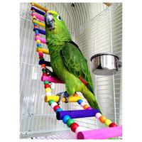 Wholesale Purple Star Funny Swing Wooden Mouse Rat Parrot Bird Hamster Ladder Crawling Bridge Toy Shelf Cage Fun
