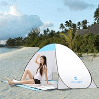 Wholesale Summer Outdoors Tents Camping Shelters with Mat for People UV Protection Tent for Beach Travel Lawn DHL Fast Shipping