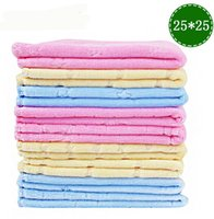 Wholesale DHL cm Pure soft velvet baby towel small square Towels