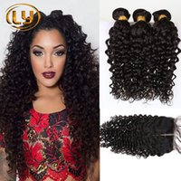 Wholesale 7A Malaysian Kinky Curly Hair Bundles Unprocessed Afro Kinky Hair Weave Hair With Closure Brazilian Kinky Curly Hair With Closure
