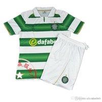 Wholesale Best Quality Scottish club New Celtic kits Soccer Jerseys Uniforms Maillot de futbol home green white Football Shirts set