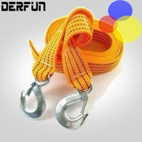 Wholesale 3 Tons Car Tow Cable Towing Strap Rope with Hooks Emergency Heavy Duty FT Newest