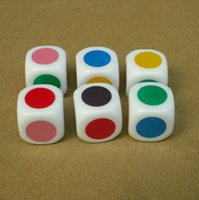 Wholesale sided mm colorful printing silk printing special educational dice for boardgame