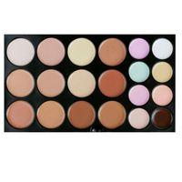 Wholesale 20Colors Makeup Concealer Face Cream Concealer Foundation Palette Makeup Concealer with makeup brush NO LOGO