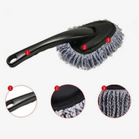Wholesale MINI WAX Brush Cute Multi functional Car Duster Cleaning Dirt Dust Clean care Brushes Dusting Tool Mop Gray for WAX PC Keyboard
