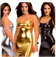 Wholesale black Gold slilver womens Sexy lingerie women hot set lady plus size club jumpsuits Sexy dress summer sleeveless g0013