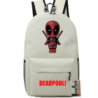 best pool games - White Deadpool backpack Best stylish school bag Dead Pool daypack Hot schoolbag New game play day pack