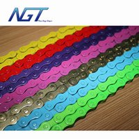Wholesale New Guy Steps Fixed gear track bike bicycle chain single speed chain magic button chain colorful links
