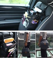 Wholesale 2015 Multi Travel Auto Car Front Back Seat Pockets Organizer Driver Handbag Shoulder Bag With Waterproof Cover