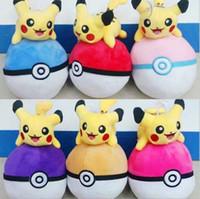 Wholesale 18CM Pokémon Go Toys Pocket Monster Doll Poke Pokeball Plush Pillow Pikachu Model Plush b284