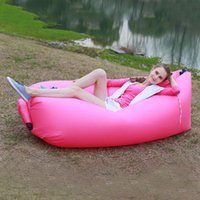 beer furniture - Portable Outdoor Inflatable Couch Camping Furniture Sleeping Compression Air Bag Lounger in Stock Cheap Price
