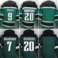 Wholesale Eagles hoodies cheap football jerseys hoody sweatshirts Philadelphia DAWKINS JAWORSKI FOLES dark green drop freeshipping
