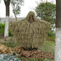 Wholesale New Desert Design Military Camouflage Ghillie Suit Grass Type Hunting Clothing Yowie Sniper D Bionic Camo Shade Cloth ME0046
