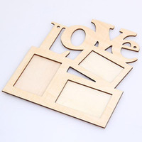 Wholesale Brand New Hollow Love Wooden Photo Frame White Base DIY Picture Frame Art Decor Hot Sale