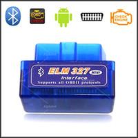 Wholesale Mini V1 ELM OBD2 II Bluetooth Interface Auto Car Scanner Bluetooth Diagnostic Tool Works Android Windows