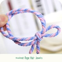 Wholesale Colorful Pleating Style Hair Ties Elastic Hair Bands Hot Selling Womens Rubber Rope Ponytail Holder Hair Accessories