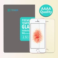 Wholesale ZOYARE Brand for iPhone SE s c Premium Tempered Glass Screen Protector mm D with retail box