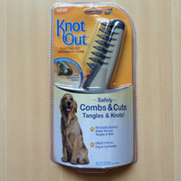 Wholesale Knot Out Electric Pet Dog Grooming Comb Black Grey for dogs and cats Scissors Professional Pet Hair Trimmer LJJH1436
