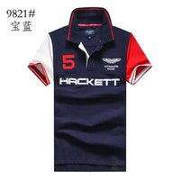 argyle style - RETAIL new lable Embroidery Men Hacket shirt masculine polos shirts men luxury aston martin racing polo casual shirt Clothing