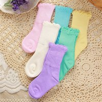 bamboo baby clothing wholesale - Baby Kids Bamboo Fiber Spring Autumnn Flower Edge Socks Months Old Girls Boys Socks Walking Children Socks Clothing Colors