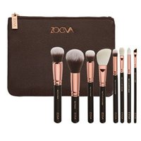 Wholesale 2016 New Zoeva Rose Golden Makeup Brush Kits genuine quality face and eye cosmetics brushes made of synthetic fiber hair free DHL