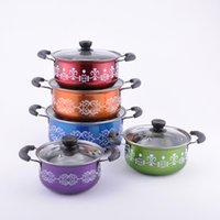 Wholesale Hot sale Colorful Stainless steel stock pot cooking pot Hot pot
