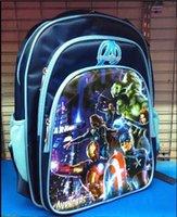 Wholesale 50cs Fashion Movie Character Avengers School Bag Cartoon Kids Backpack Students Rucksack G293