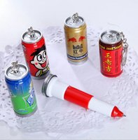 best retractable pens - 2016 best selling creative stationery lovely bottle pen retractable pen ballpoint pen beverage cans