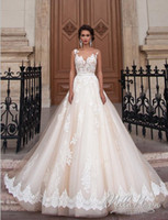 accounting training - Milla Nova Bridal Wedding Dresses Vintage Lace Bridal Gown Lace Applique Beads noiva A line wedding dress plus size with Account Train