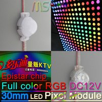 addressable advertising - DMX512 IC LED Modules leds addressable RGB pixel Advertising signs transparent milky cover DC12V mm diameter
