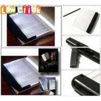 No Dry Battery Art Deco LNHF Free Shipping Book Light Reading Led Panel Book Light on your Page Not In your Face Adjustable Lighting
