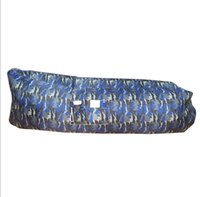 bedroom furniture fabric beds - Portable air sofa sleeping bag inflatable printed sofa bed camouflage inflatable air bag Waterproof Nylon Hangout Sleeping Bag with pocket
