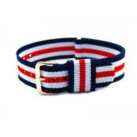 belt without buckle for men - Luxury mm Nylon Watchband For Daniel Wellington Watch Multi Color Strap Men DW Watch Belt Watch Bands With Steel Buckle