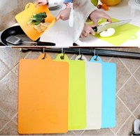 Wholesale new supplies cute frosted board chopping board Kitchen Cooking Tools Flexible Plastic Cutting Board FoodSlice Cut Chopping Block