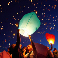 balloons float - Fire Lanterns Sky Lanterns Wishing Lantern Chinese Sky Flying Paper Balloon Khoom Fay Kong Ming Floating Lamp With Fuel