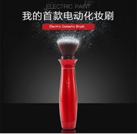 bb electronics - 2016 Hot Electric Cosmetic Makeup Brush Electronic Make Up Brushes Red Electric Paint Foundation blusher BB Cream Brushes