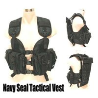 Wholesale Navy SEAL tactical CS army airsoft military tactical vest green black woodland color