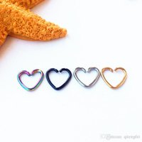Wholesale 8pcs Heart shaped Body Piercing Jewelry Earring Ear Jewelry Nose Hoop Nose Rings Clip on Nose Ring