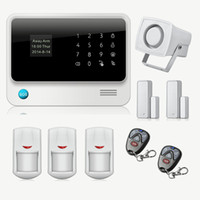 Wholesale Wireless GSM Home Security Alarm System G WiFi Alarm System IOS Android Control Motion Sensor Alarm