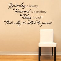 art history wallpaper - Art Yesterday Is History Art Quote Paper Removable Wall Sticker Decal Home Living Room Bedroom Wallpaper DIY Decor