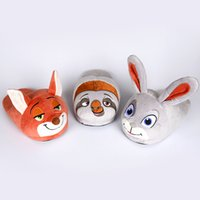 Wholesale Cartoon Zootopia Plush Slipper D Shoes Judy Nick sloth Soft Warm Household Winter Slippers for women and man C1000