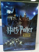 Wholesale NEW Arrival Harry potter FILM dics US Version The Complete Collection Factory Price DVD Boxset New Free DHL Shipping From
